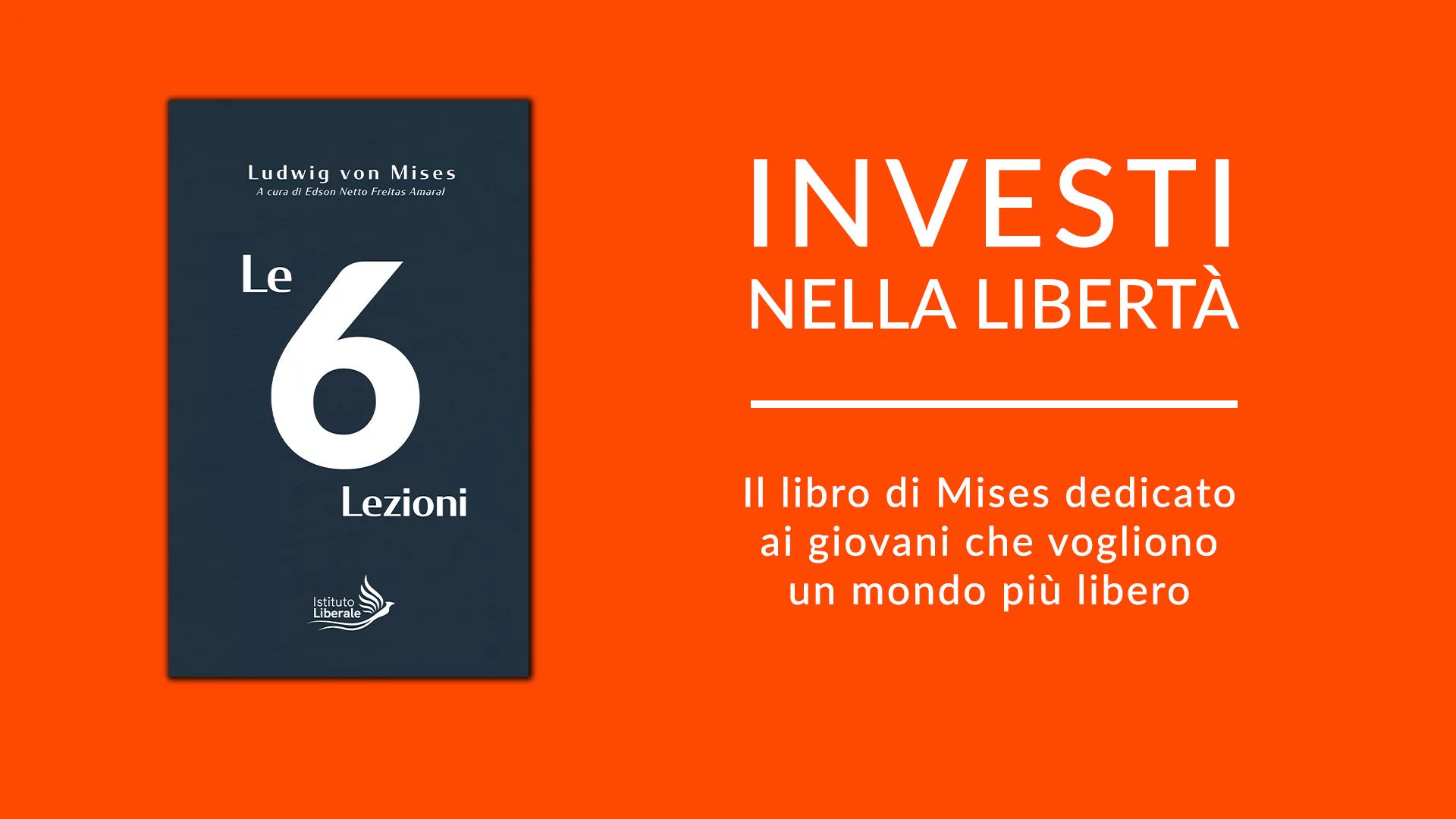 grafica e copertina del libro le 6 lezioni di von mises
